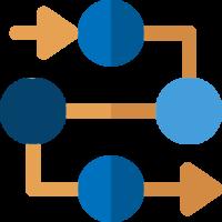 arrows going through four circles